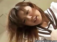 Futanari 18-19 year old Licks Own Fuck pole!