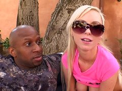 Blondie needs a hard love tool of a black boy for happiness
