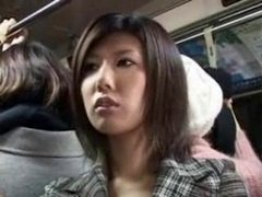 JAPANESE Excited Girl ON THE BUS