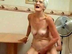 Insatiable Granny Just Loves Purple rod !