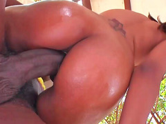 Sexy Latina Riby rides a huge black monster love tool