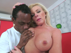 Hot granny that loves huge black cock is getting filled up well