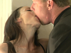 Soccer mom that has large breasts is getting her oozy honey pot penetrated hard