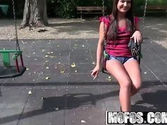 Public Pick Ups - Smoking Russian Swallows Cum starring  Kri