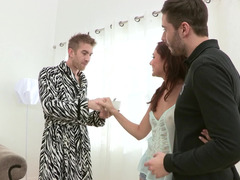 Guy with a huge dick and Ariana Marie have a good time