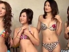 Super sexy oriental girl goes crazy getting