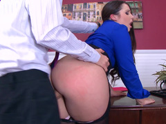 Dick of the boss is able to visit any slit of his employee
