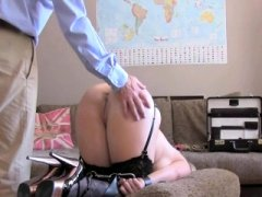 Booty spanking toys & anal on casting