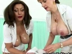 Boobalicious aged female domination nurses