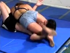 Strong babe mixed wrestling