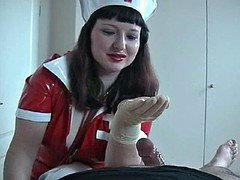 Rubber Glove Nurse Milking Fella