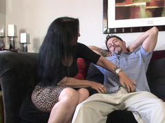 Aged brunette floozy is ready to get her tight pussy rammed by a stud