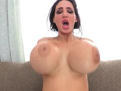 Large titties bitch Amy Anderssen goes black in a huge way