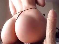 Slender pawg gets down and dirty dildo