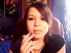 Elizabeth Douglas third video on webcam tell about her smoking