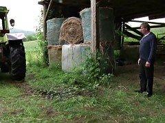 German Milf Mom & Dad Make love Outdoor on farm
