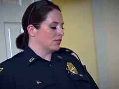 Bigass female domination cops ride black suspects fuck pole