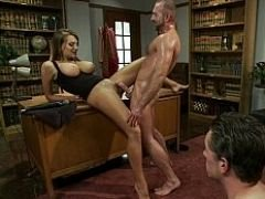 Sexy wife rammed hard with her husbands ramrod
