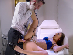 A babe it is into rectal is getting fucked by the doctor