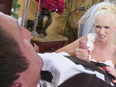 Young and vernal & vernal bride & the wedding planner adore big love pole together