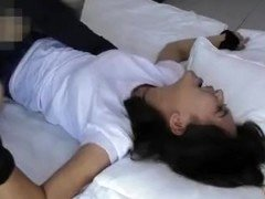 Tickle Chinese girl student 76