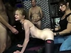 Blonde Morgane fucked in a groupsex