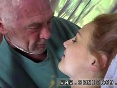 Stupid hoe lets an old geezer have an intercourse her drenched honey pot