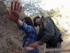 Lez cop strap on 1st time Kayla West was caught lusty patrool during border crossing