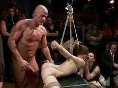 Super flexible Sensi Pearl gets restrained up and furthermore fucked