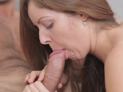 Handsome dude with a huge cock is here to have an intercourse this tiny girl