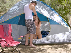 Adorable little camper hoe wants some nasty making love outdoors
