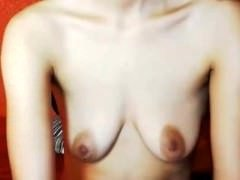 sexycams69.net - Nice petite saggy tits
