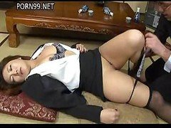 Japanese gal lays down and plus furthermore lets this fella get naked and plus furthermore have an intercourse her
