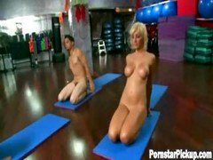 Lexi Does Undressed Yoga With A Fan