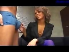Hot Office Lady Giving a bj On Her Knees Cum To Mouth Swallowing On The Floor In The Office