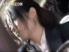 office dame seduced fucked by geek on bus