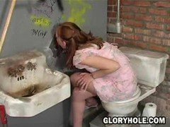 What is it exactly about a gloryhole in a disgusting bathroom that makes an otherwise commonsense hot chick go in there, take a stranger's sizeab