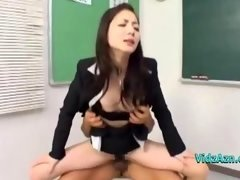 Teacher Giving head Phalluses Fucked By 2 Men Facial cumshot & Genital cumshot In The Classroo