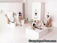 Human Toilet Kittens Facialed!