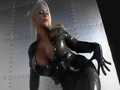 Charming latex covered bra buddies and also faces  music video