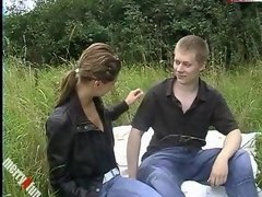 Outdoor cock sucking and plus sex
