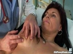 Mature Livie cum bucket revision by excited kinky gyno doctor