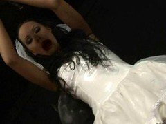 Sexy bride getting punished & fucked