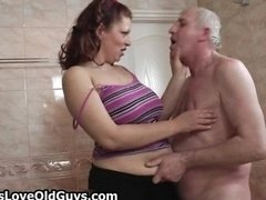 Excited grandpa loves having sex with cute part4