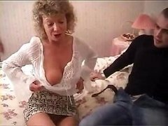 British granny goes fully wild & tries to have an intercourse with her gr&son's buddy