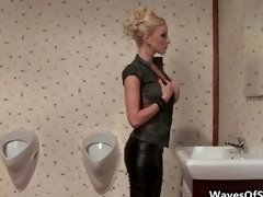 Fit blonde chick giving bj of a sizeable cum cannon part2