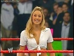Wrestling gal Stacy Keibler shows off her panties sp