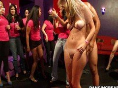 Bride gives blowjob and furthermore fucks at bachelorette party