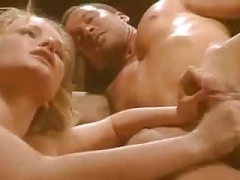 An erotically filmed group-fuck with a blonde