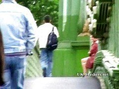 Mad exhibitionist soccer mom squirting in public
